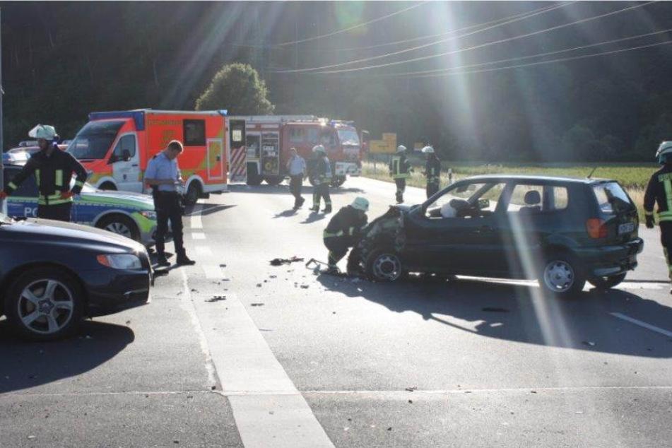 Der Unfall ereignete sich beim Abbiegen.