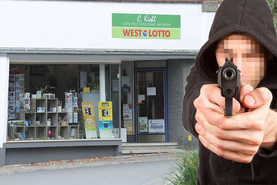 Der Täter stürmte mit einer Pistole in das Lottogeschäft in Rödinghausen.