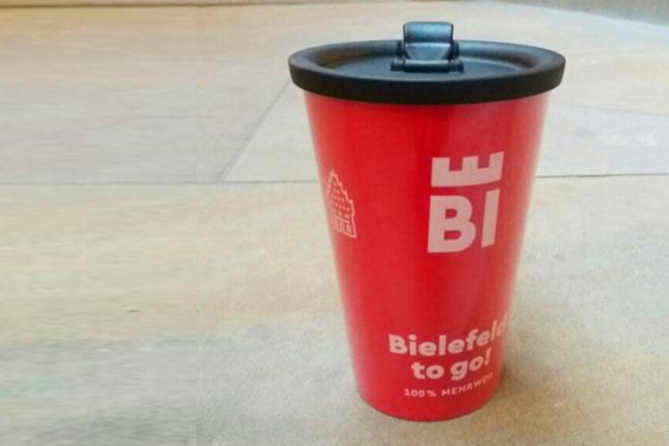 So soll der neue Bielefelder Kaffeebecher aussehen.