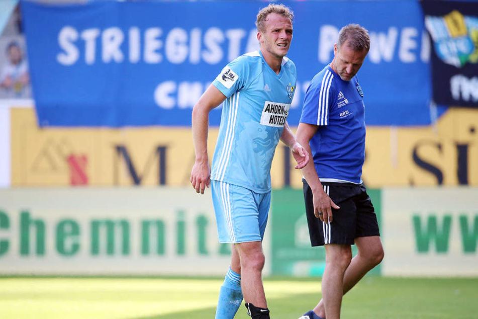 Gegen Osnabrück musste Julius Reinhardt humpelnd vom Platz. Das kostete ihn den Startelf-Platz gegen Unterhaching.