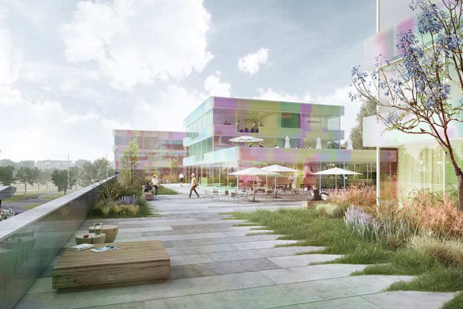 Auf den Terrassen des neuen Gebäudes sollen die Gäste flanieren können.