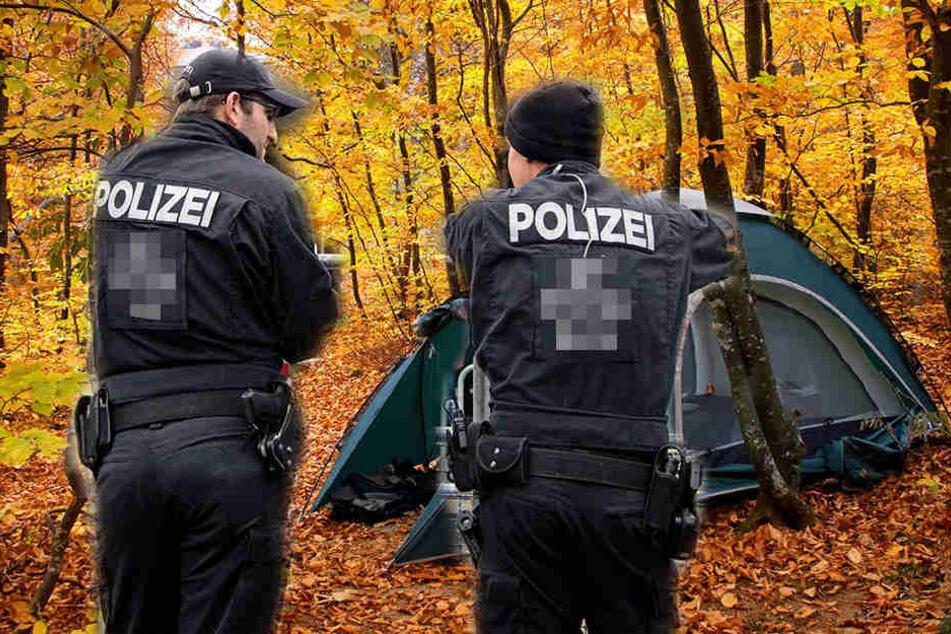 Jugendliche zelteten in der Oberlausitz und wurden von der Polizei kontrolliert.
