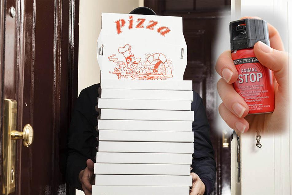 Der Pizzabote wurde mit Pfefferspray attackiert.