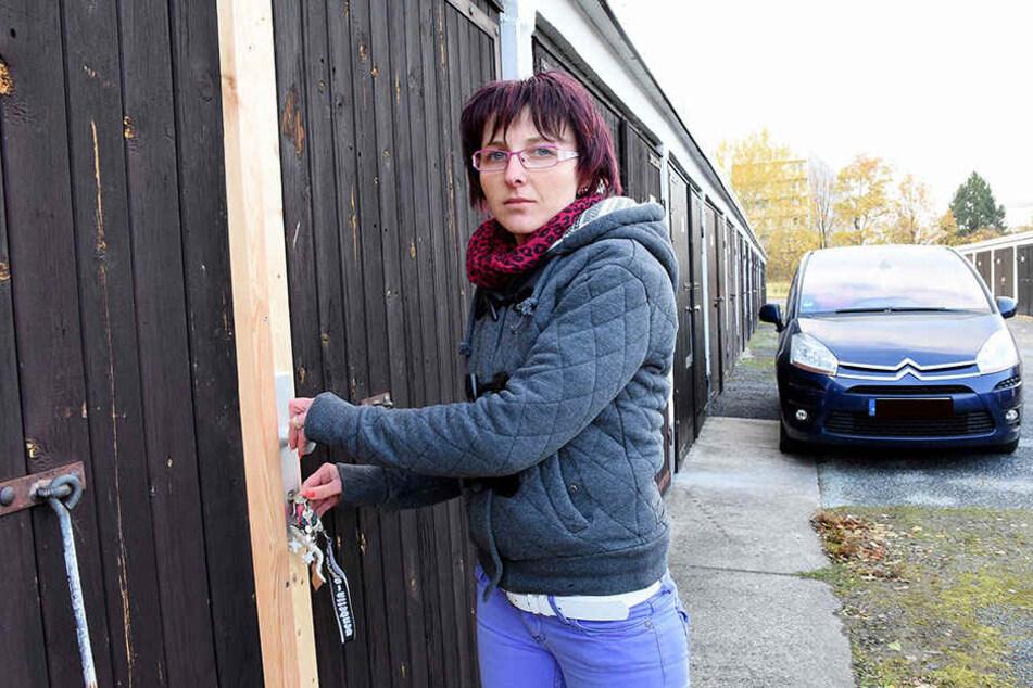 Doreen Natuschke (31) ärgert sich über den dreisten Einbruch in ihre  Garage.