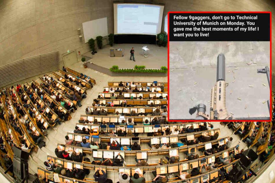 """""""Geht am Montag nicht zur Uni"""": Studenten nach Waffen-Warnung in Angst"""