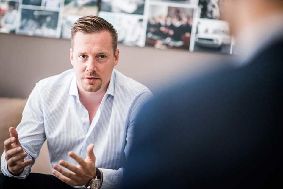 Der Geschäftsführer von Flixbus, Andre Schwämmlein.