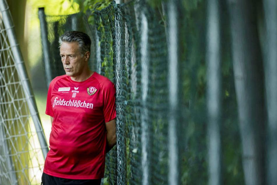 Das Auswärtsspiel in Darmstadt hat Dynamo-Trainer Uwe Neuhaus abgehakt.