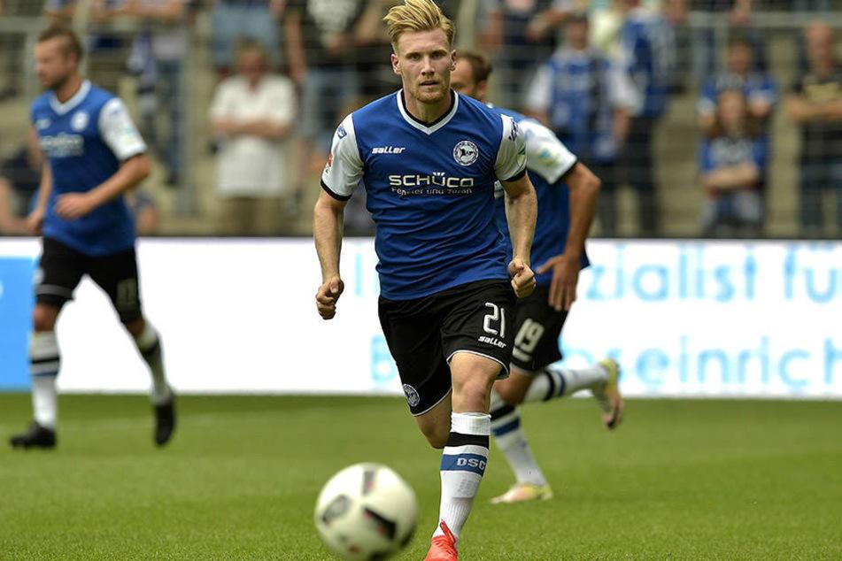 Andreas Voglsammer stürmt seit Januar 2016 mit der Rückennummer 21 für die Blauen.