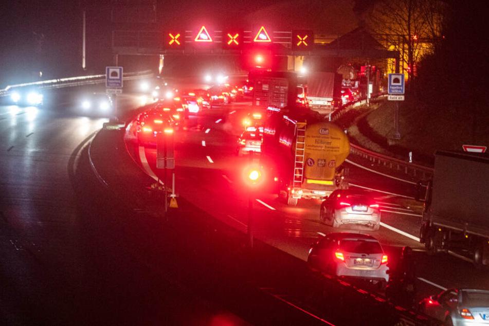 Tunnelsperrung nach Unfall bei Fellbach: Autofahrer brauchen gute Nerven