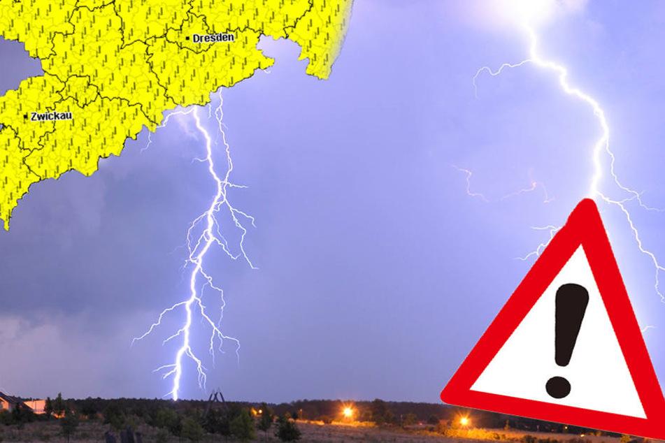 Warnung vor Gewittern, Starkregen, Sturm und Hagel