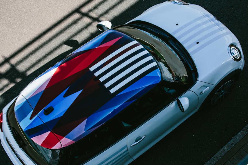 Das Farbdesign mit 3D-Druck erinnert an den Union Jack.