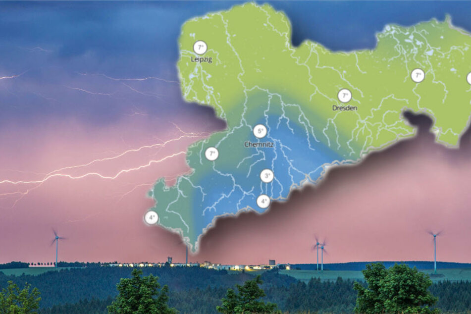 Unwetterwarnungen für Sachsen: Orkantief, Gewitter und Starkregen erwartet