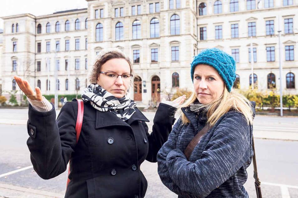 Katharina Loch (28, l.) kämpft dafür, dass Katrin Klenner (37, r.) auch noch ihren Master-Abschluss machen kann.