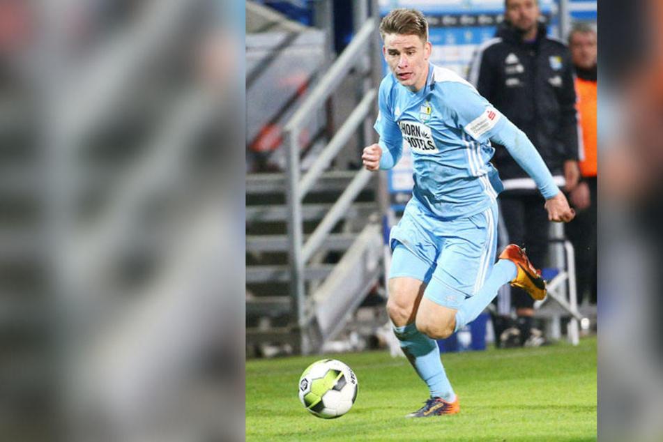 Florian Hansch hat sich in diesem Jahr extrem gemausert, ist zum unverzichtbaren Stammspieler bei den Himmelblauen geworden.