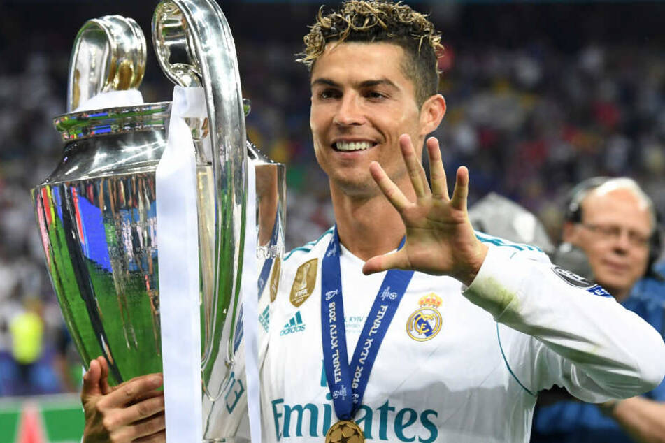 Fünf Mal gewann Ronaldo die Champions League, vier davon mit Real Madrid.