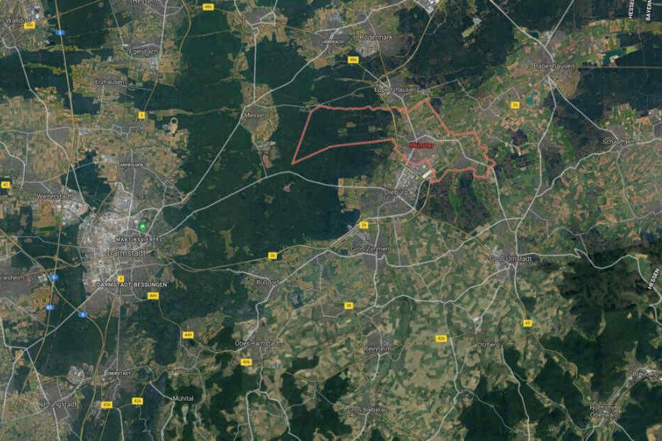 Der Vorfall ereignete sich im südhessischen Münster bei Darmstadt.