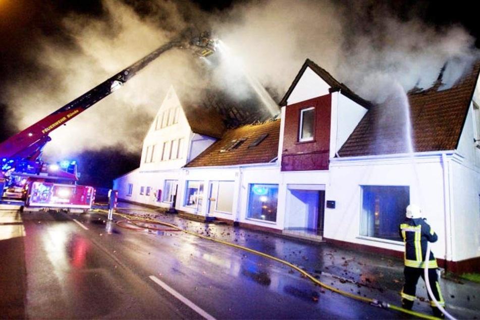 Am 19. Februar 2014 brannte das Haus an der Lübbecker Straße ab.