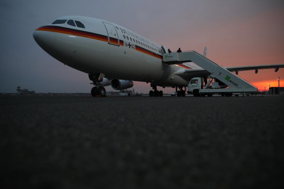 Der Airbus steht schon bereit. Doch die angekündigten Schneestürme machen dem Besuch einen Strich durch die Rechnung.