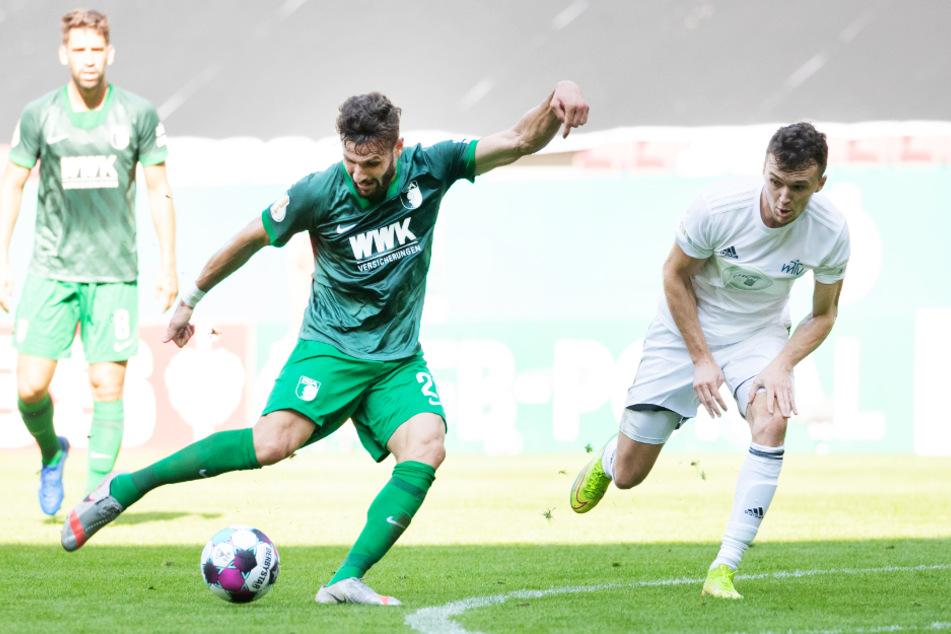 Daniel Caligiuri (l.) erzielte im DFB-Pokalspiel beim MTV Eintracht Celle das 2:0. Auch er wurde als erfahrener Führungsspieler, der vorangeht, verpflichtet.