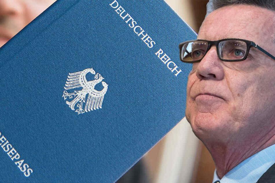 """""""Reichsbürger"""" sind de Maizière ein Dorn im Auge. (Bildmontage)"""