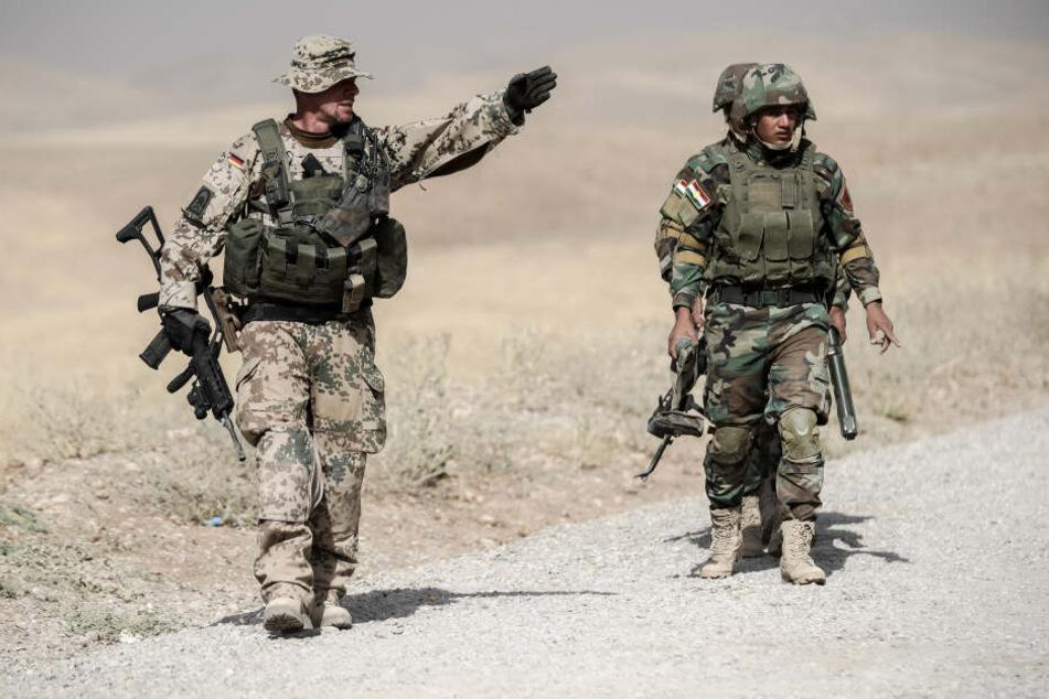 Die im nordirakischen Erbil stationierten Soldaten der Bundeswehr sind nach den iranischen Raketenangriffen auf Militärziele in dem Land wohlbehalten. (Archivbild)