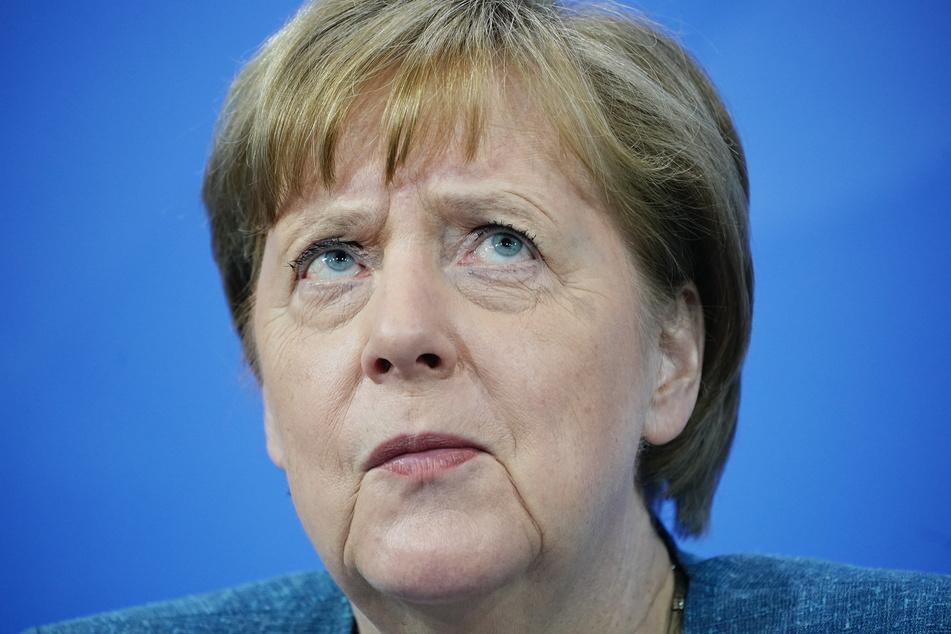 Bundeskanzlerin Angela Merkel (66, CDU) bei der Pressekonferenz nach dem Impfgipfel.