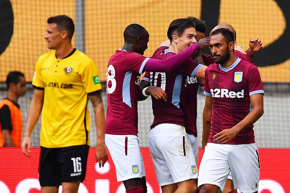 Aston Villa durfte jubeln - wie hier im Testspiel am 28.Juli 2018 in Dresden bei Dynamo.