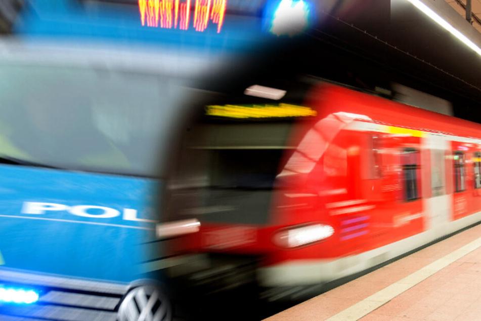 Frau belästigt, Begleiter geschlagen und Messer gezückt: Polizei sucht Bahn-Prügler