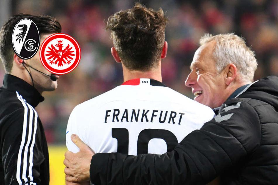 """Riesen-Aufreger bei Freiburg gegen Frankfurt! Streich: """"Er rennt mich über den Haufen""""!"""