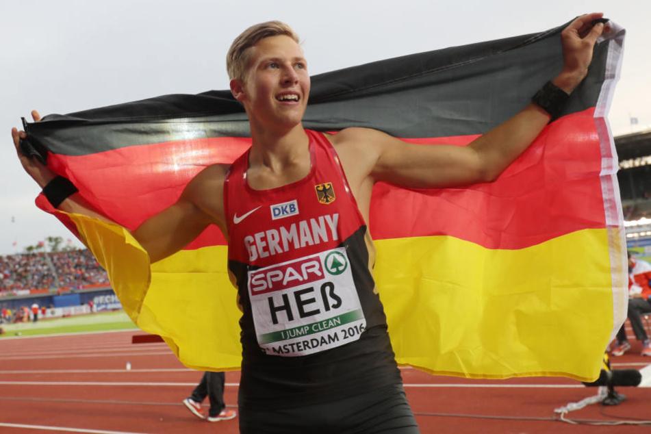 Bei der Europameisterschaft in Amsterdam konnte sich Max Heß noch überraschend über Gold freuen.