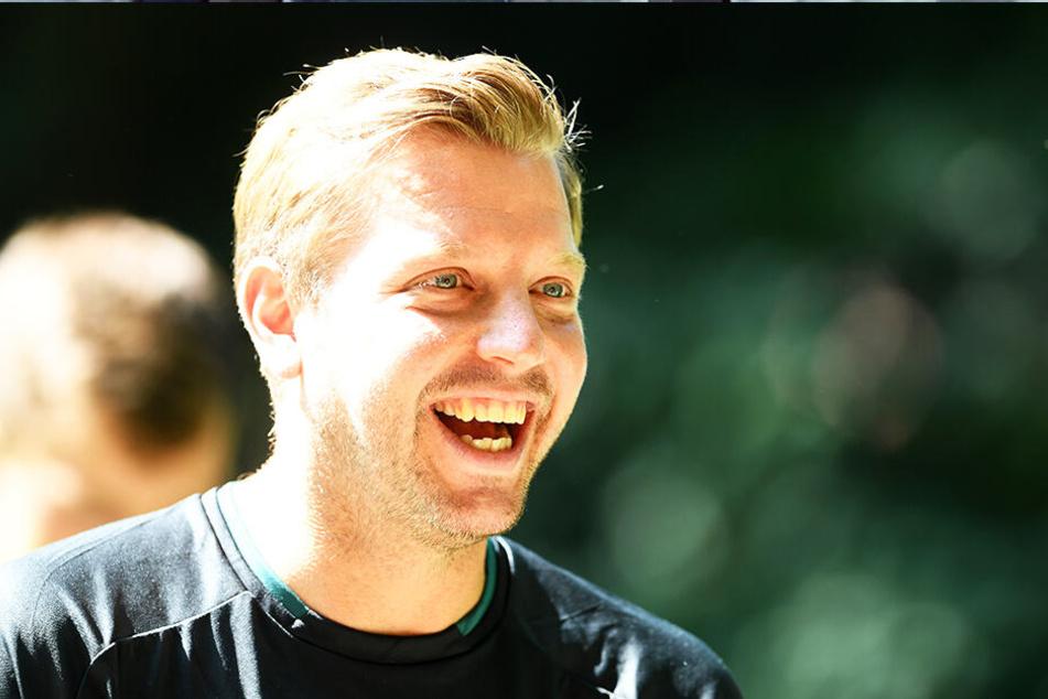 Florian Kohfeldt: Immer freundlich, immer ein Lächeln auf den Lippen.