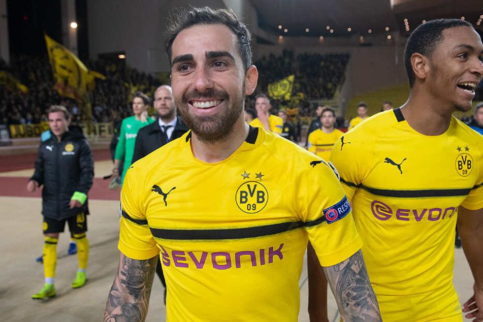 Hat gut lachen: Paco Alcacer wird auch in Zukunft beim BVB spielen.