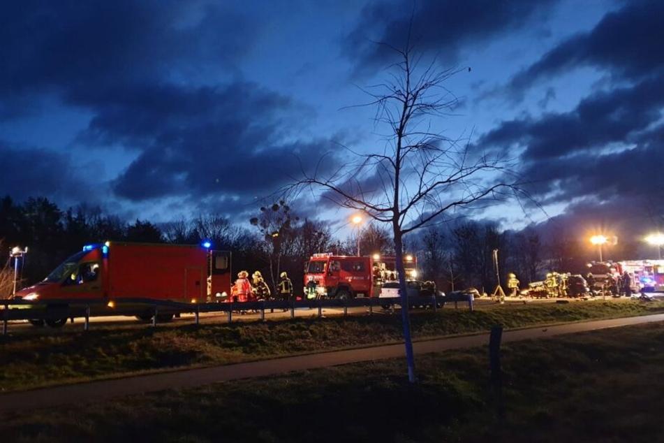 Auf der B273 bei Potsdam hat es am Mittwochmorgen heftig gekracht.
