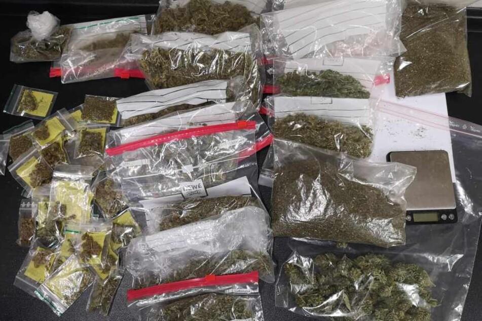 Die beschlagnahmten Drogen.