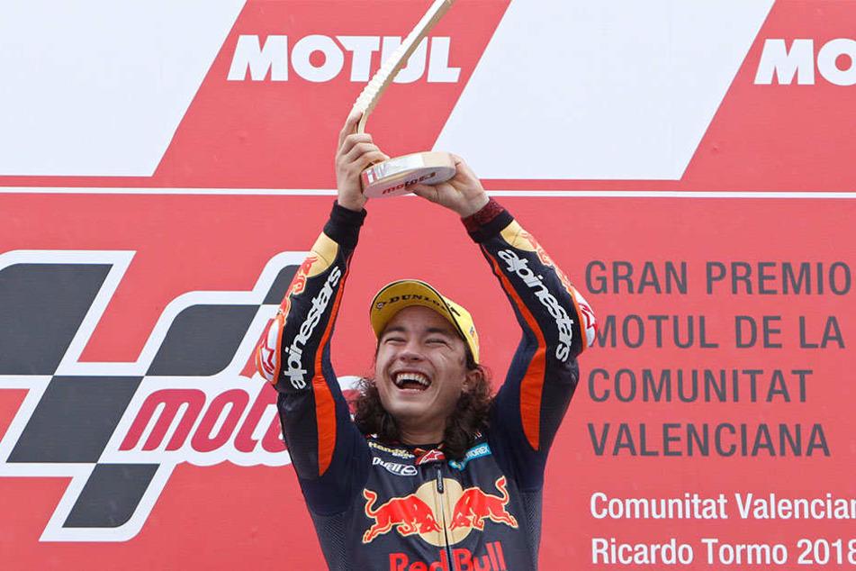 Can Öncü ist 15 Jahre alt – und bereits Grand-Prix-Sieger!