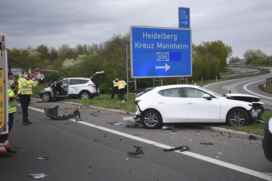 Autofahrer schwebt nach heftigem Unfall auf der B38 in Lebensgefahr