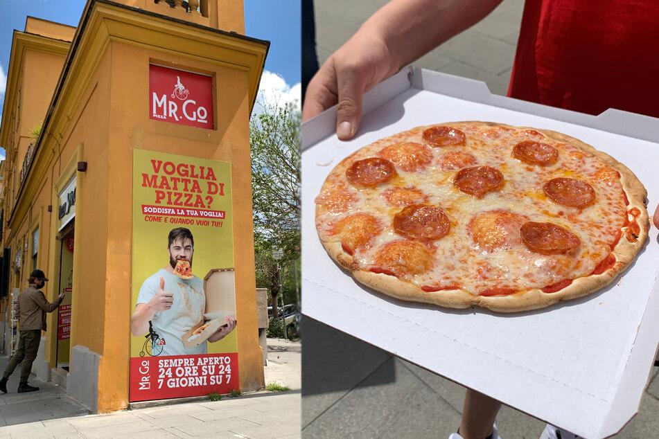Die Pizza, die der Automat ausspuckt, sieht recht ordentlich aus (Bildmontage).