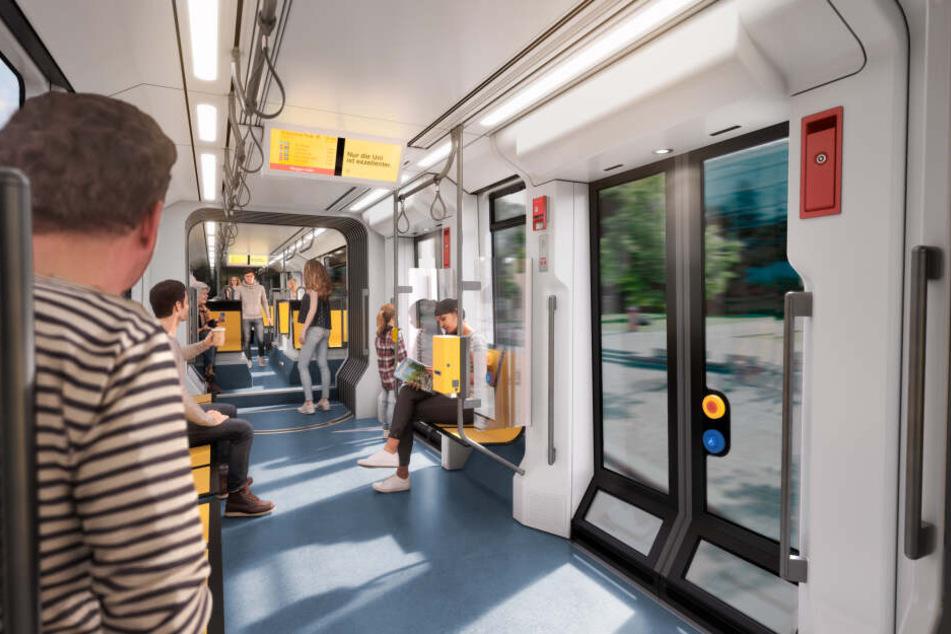 In der neuen Bahn gibt's nicht nur mehr sondern auch breitere Türen für bequemes Ein- und Aussteigen.