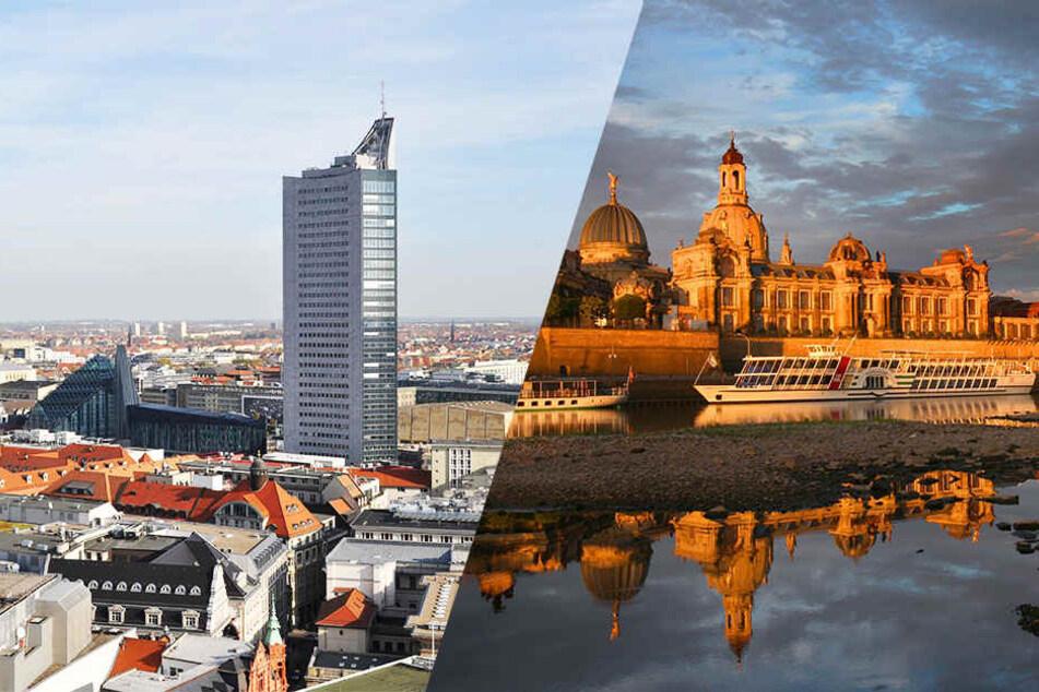 Dresden landete im Vergleich auf Platz drei, Leipzig musste sich mit dem neunten Platz zufrieden geben.
