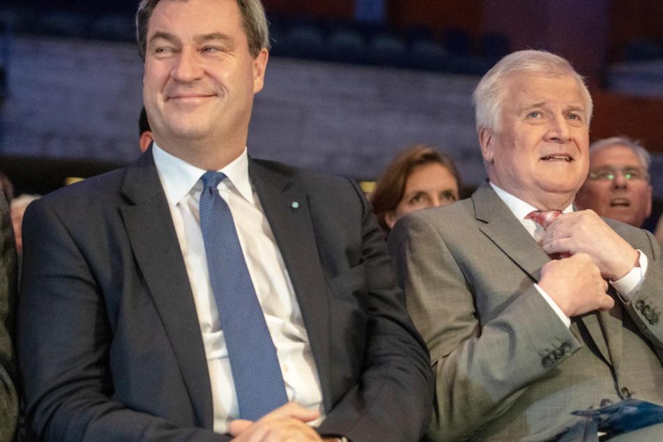 CSU-Streit? Horst Seehofer und Markus Söder demonstrieren Geschlossenheit