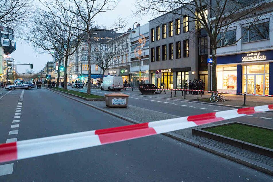 Die Polizei sperrte das Gebiet weiträumig ab.