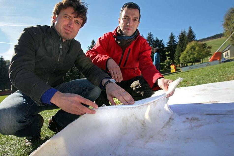 Zwei der drei Erfinder: Arndt Schumann (36) und Jens Reindl (36).