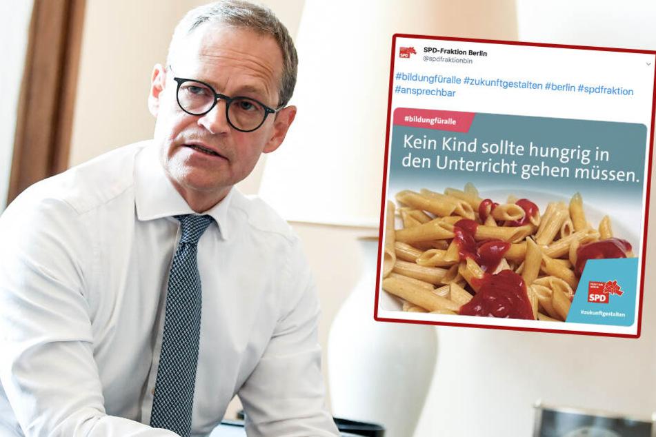 SPD wirbt mit Ketchup-Nudeln für kostenloses Schulessen und kassiert Häme!