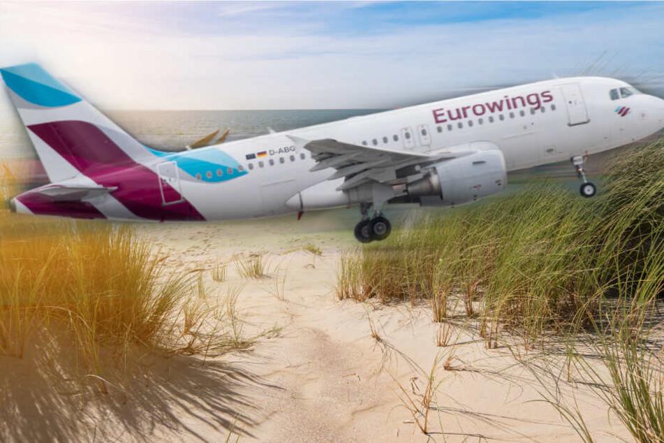 Die Airline Eurowings verbindet Köln mit der Nordsee-Insel Sylt. (Symbolbild)