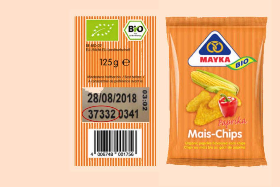 Diese Chips mit der abgebildeten Chargennummer werden vom Handel zurückgerufen.