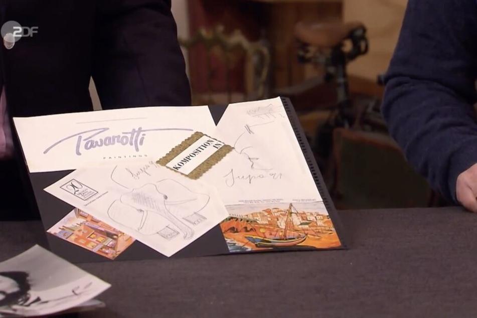 Für diese Pavarotti-Skizzen machte ein Händler 750 Euro locker.