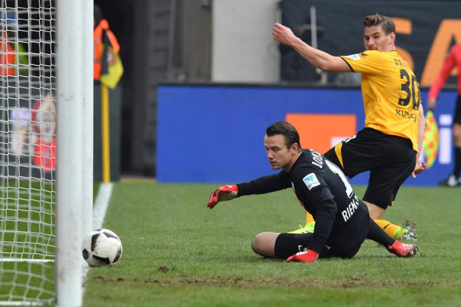 Stefan Kutschke schoss das 2:1 für Dynamo.