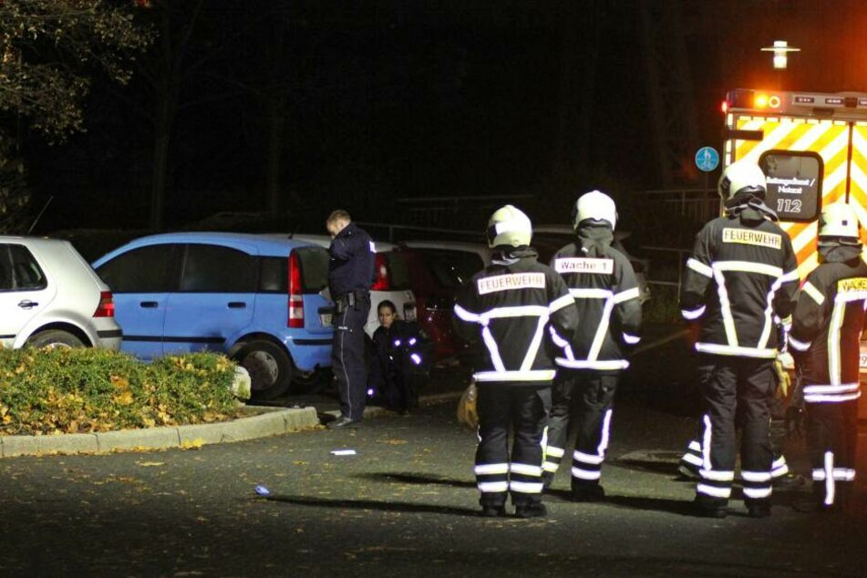Kameraden der Feuerwehr bargen das Mädchen.