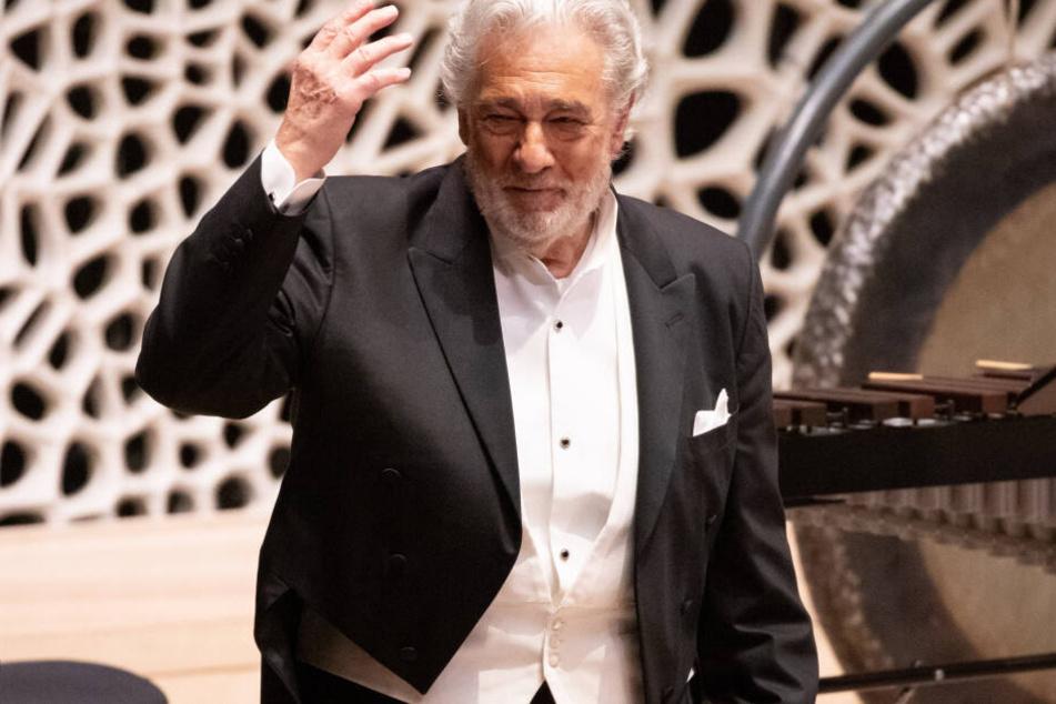 Der Opernsänger Placido Domingo bei einem Konzert in der Elbphilharmonie.