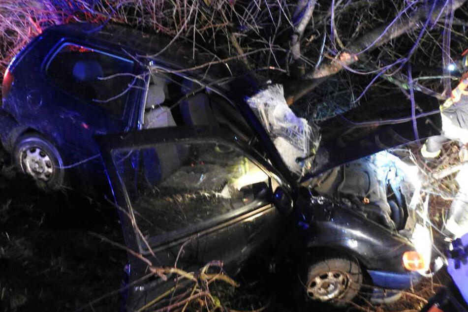 Auf einer Probefahrt schrottete ein Fahrer seinen neuen VW Polo.